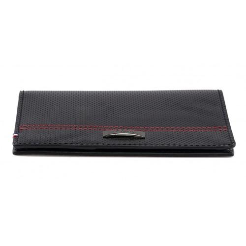 ST Dupont McLaren Defi Black Perforated Calfskin Leather Passport Holder $70 + free shipping