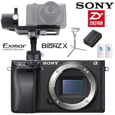 Sony a6300 Mirrorless Camera w/ 16-50mm Lens + Zhiyun Crane-M Gimbal $1188 or w. a6300 Body $1103 + free shipping