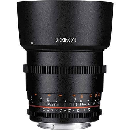 Rokinon 85mm T1.5 Cine DS Aspherical Lens $299 or 14mm T3.1 Cine DS ED AS IF UMC Lens (canon nikon sony e, 4/3rd) $449 + free shipping