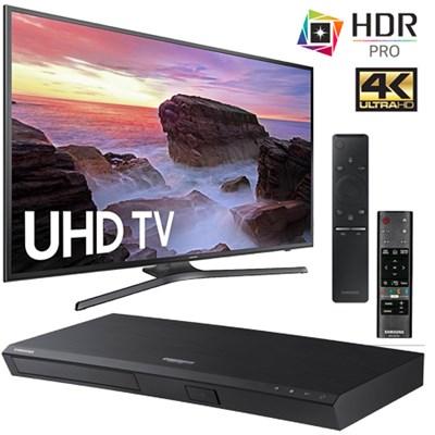 "40"" Samsung UN40MU6290 4K HDR TV + Samsung UBD-M7500 4K Blu-Ray Player $439 + free shipping"