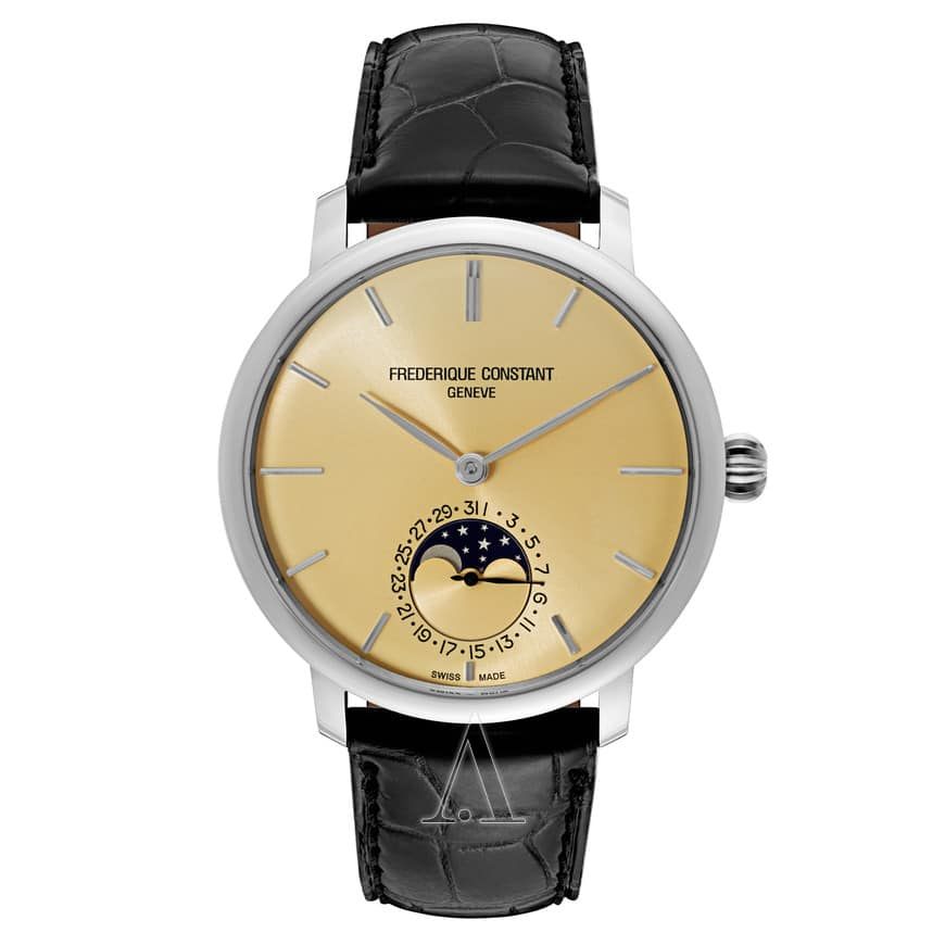 Frederique Constant Slimline Automatic Moonphase Watch $1289 + free shipping