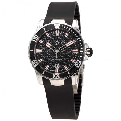 Ulysse Nardin Lady Diver Black Wave Dial Automatic Watch $2495 + free shipping