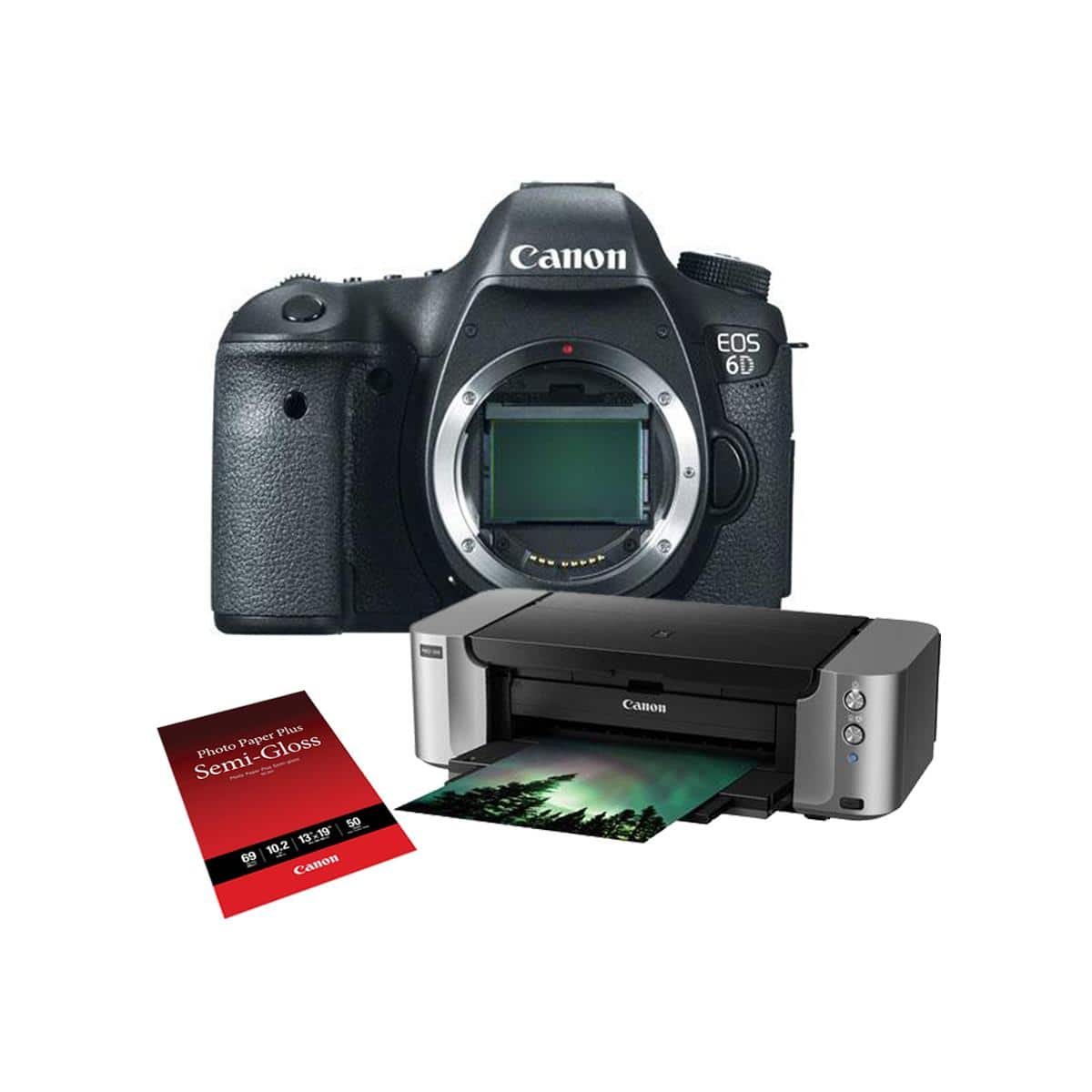 Canon 6D (body) + Speedlite 600EX Flash + Pro-100 Printer & More $1405 + free shipping after $350 rebate