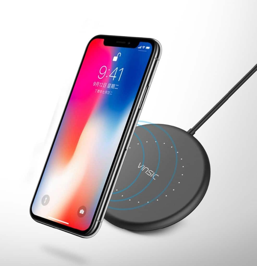 Vinsic VSCW114B Qi Wireless Charging Pad w/ Cable $8 + free shipping