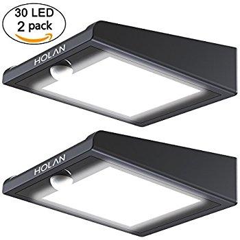 (2-pack) 30-led Motion Sensor Solar Lights $12