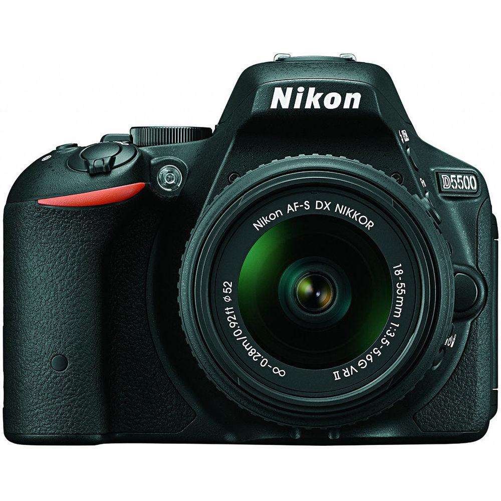 Nikon D5500 DSLR Camera with 18-55mm VR II Lens (refurb) $450 + free shipping