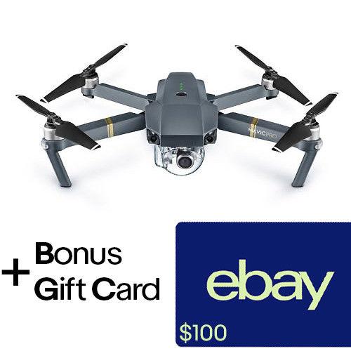 DJI Mavic Pro Drone + $100 eBay Gift Card $899, DJI Spark + $50 eBay GC $399 + free s/h