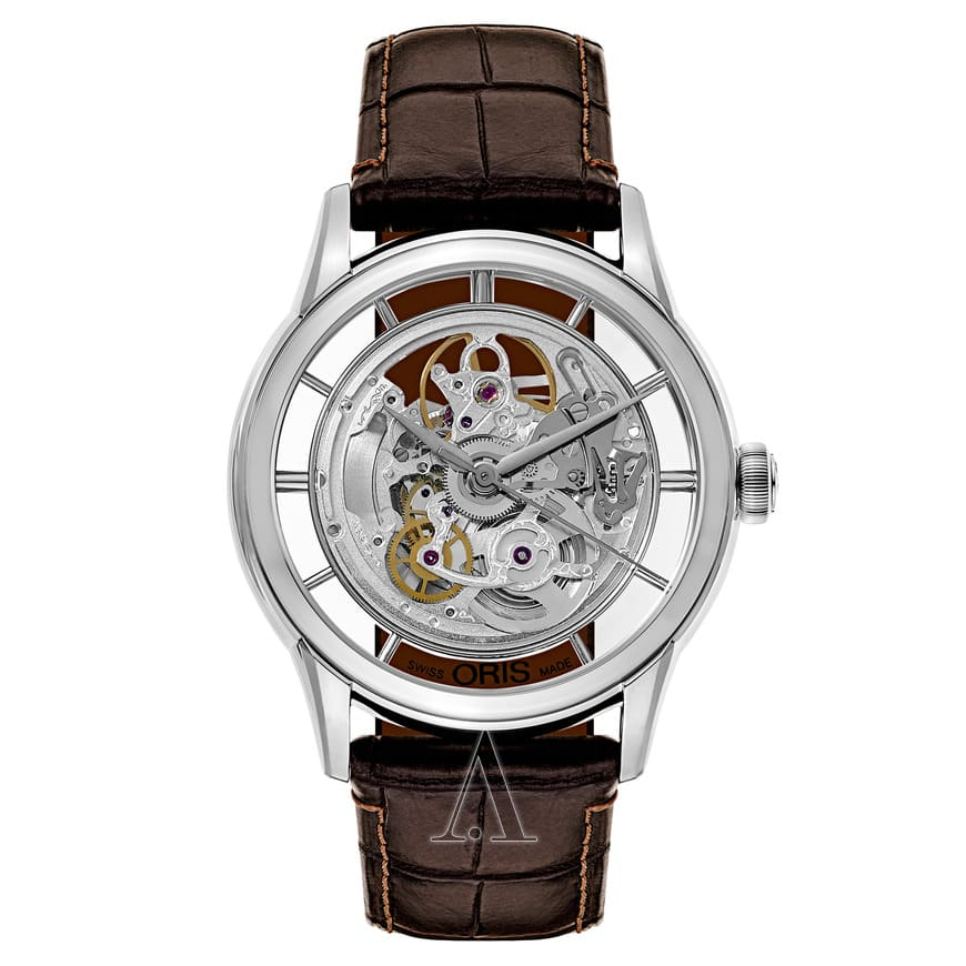 Oris Men's Artelier Translucent Automatic Skeleton Watch $829 + Free shipping