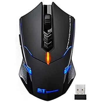 VicTsing Wireless Gaming Mouse 6 Programmable Buttons & Led's $8