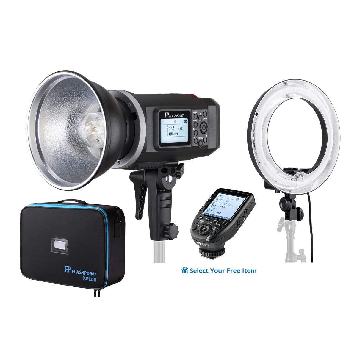 Flashpoint XPLOR 600 HSS R2 Battery-Powered Monolight Kit - Bowens Mount $429 + free shipping