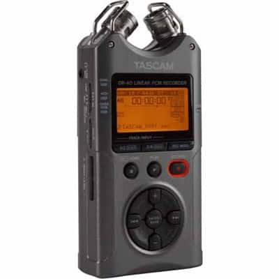Tascam DR-40 - Portable Digital Recorder (Luminous Gray) $119 + free s/h