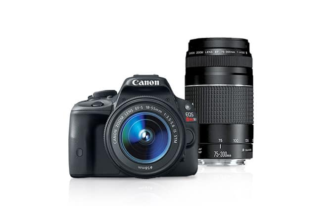 (refurb) Canon SL1 18-55mm IS STM & EF 75-300mm f/4-5.6 III USM Lens $350 + free s/h