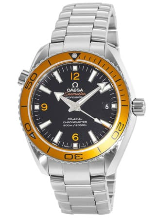 Omega Seamaster Planet Ocean Automatic Watch (Orange Bezel) $3600 + free s/h