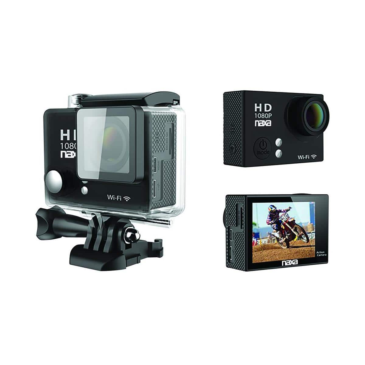 Naxa NDC-404 12MP WiFi Waterproof 1080p Action Camera $20 + free shipping