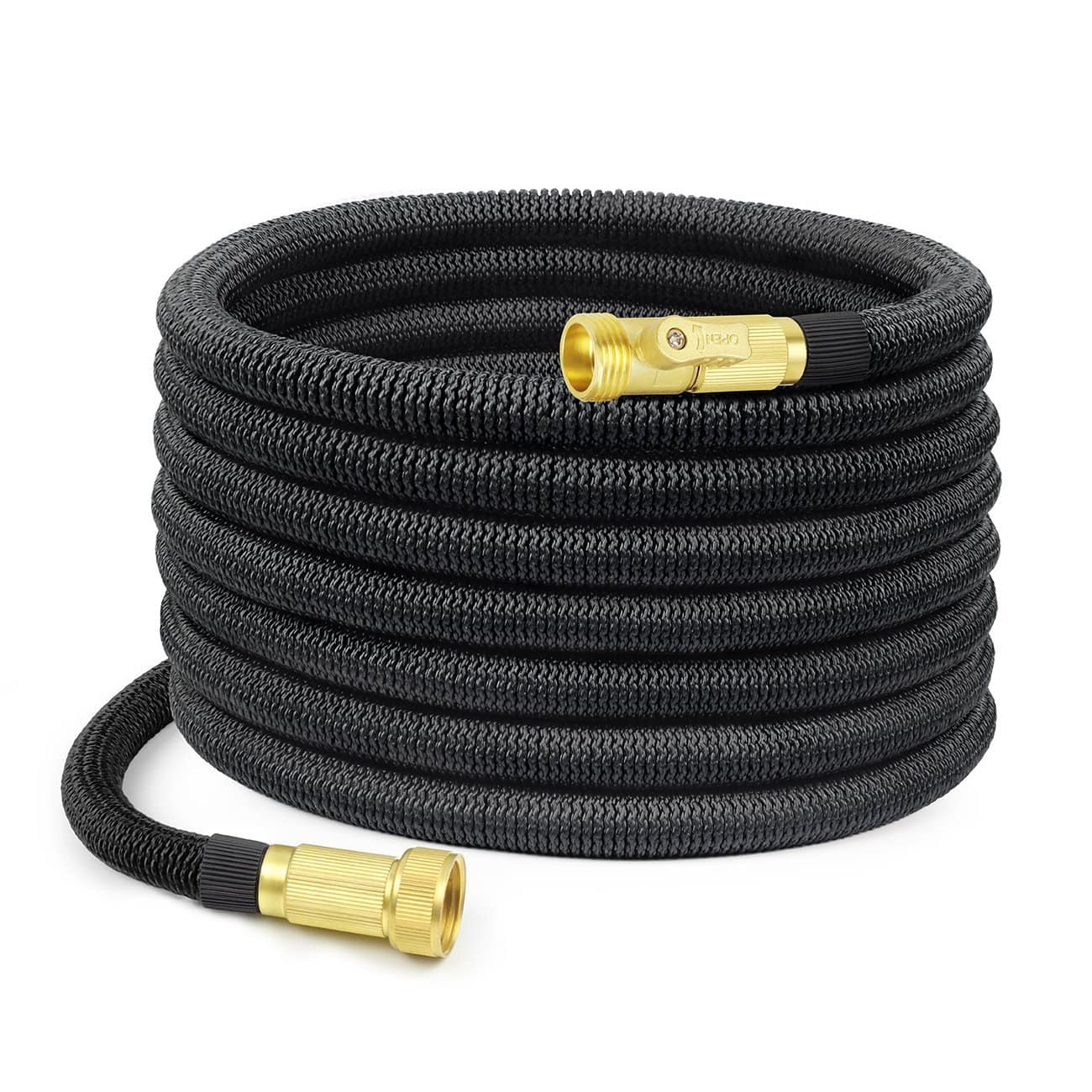 50ft Shine Hai Garden Hose with Brass Connectors $14
