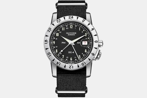 Glycine Airman DC-4 GMT Automatic Watch $600 + free s/h