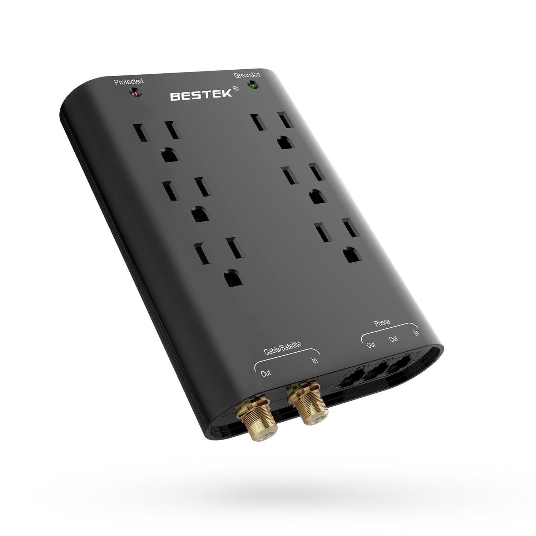 Besktek Wall Surge Protectors: 6 Outlet  $9 or 6 Outlet  WITH 2 USB $11