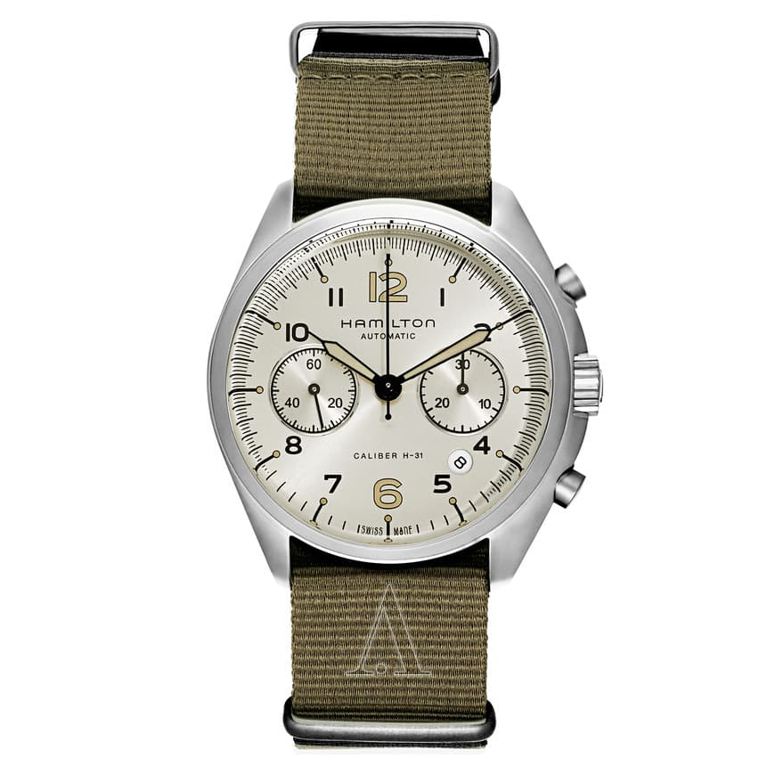 Hamilton Khaki Aviation Pilot Pioneer Automatic Chronograph Watch $699 + free s/h