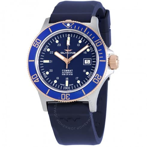 Glycine Combat Sub Automatic Watch w/ Blue Dial $379 + free s/h