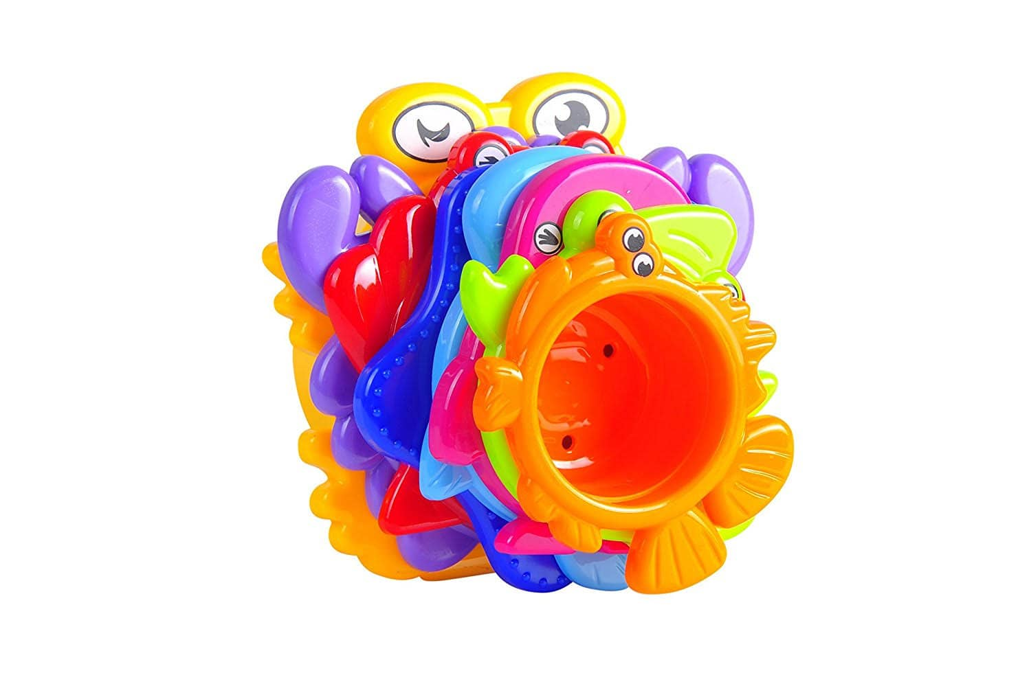 MooToys Under the Sea Animals Bath / Sand Stacking Cups for Kids $3.90