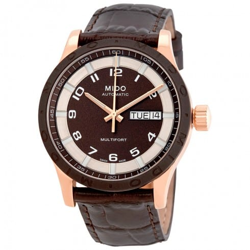 MIDO Multifort Brown Dial Automatic Watch $375 + free s/h