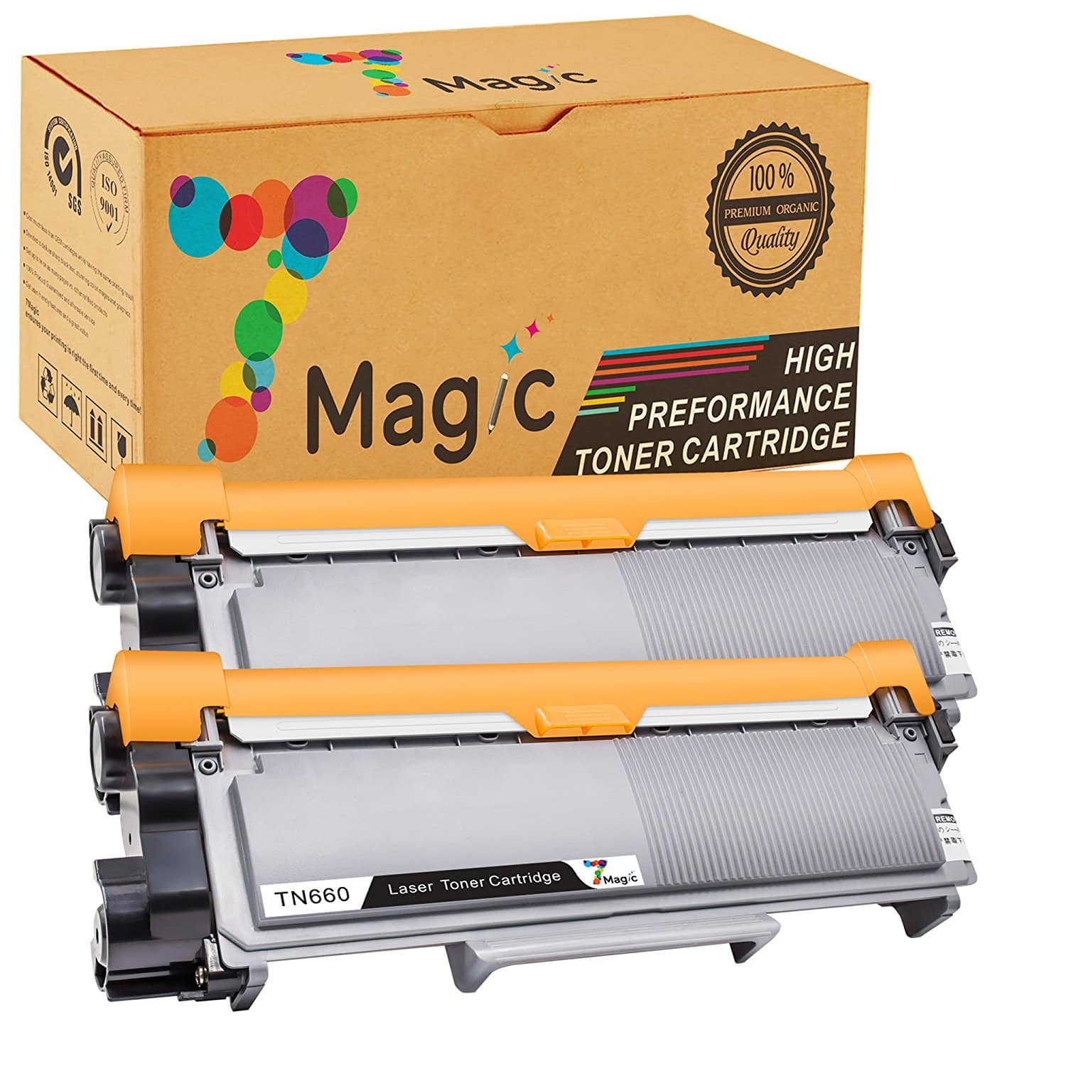 2-Pack TN660 TN630 Compatible Brother Toner Cartridges (2600 pages) $7.50