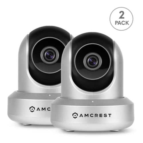 2-pack Amcrest IPM-721S 720p WiFi IP Security Surveillance Cameras $80 + free s/h