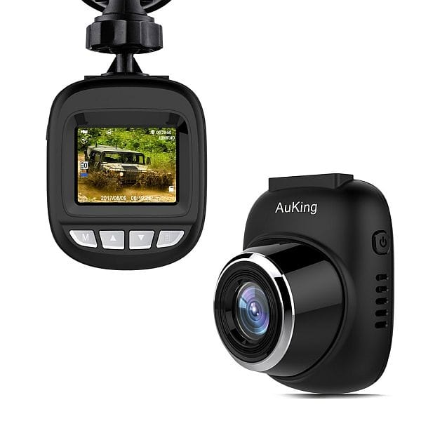 Auking 1080p Dash Cam w/ 168° Wide Angle, G-sensor, Loop Recording $25 + free s/h