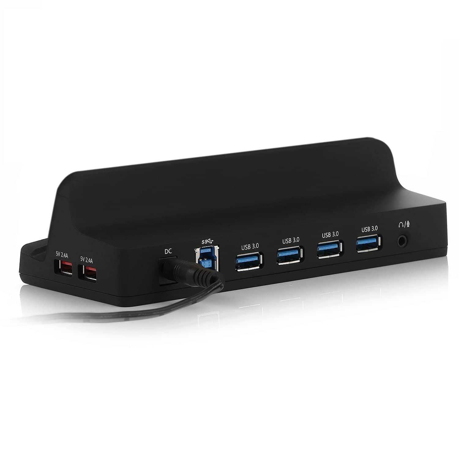 Bestek USB 3.0 Hub (12v/3a) + 2 USB Power Ports + Dock $10