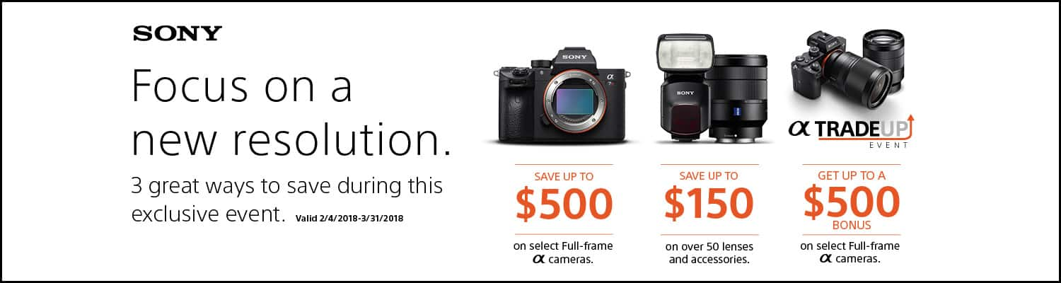 Up to $500 off Sony Camera's w/ Any Working Lens or Camera Trade-in