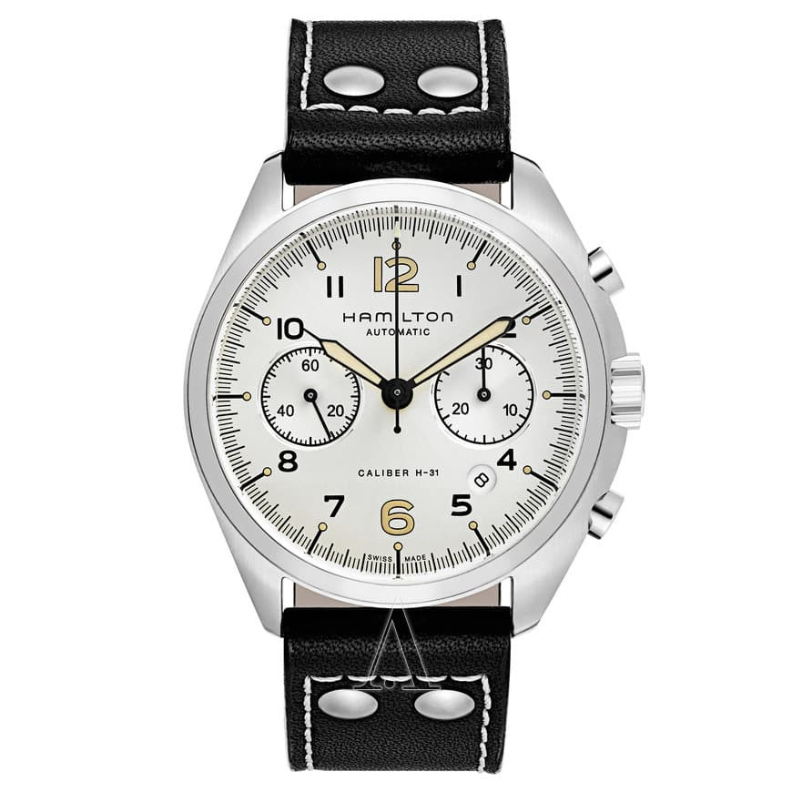 Hamilton Men's Khaki Aviation Pilot Pioneer Automatic Chronograph Watch $699 + free overnight s/h
