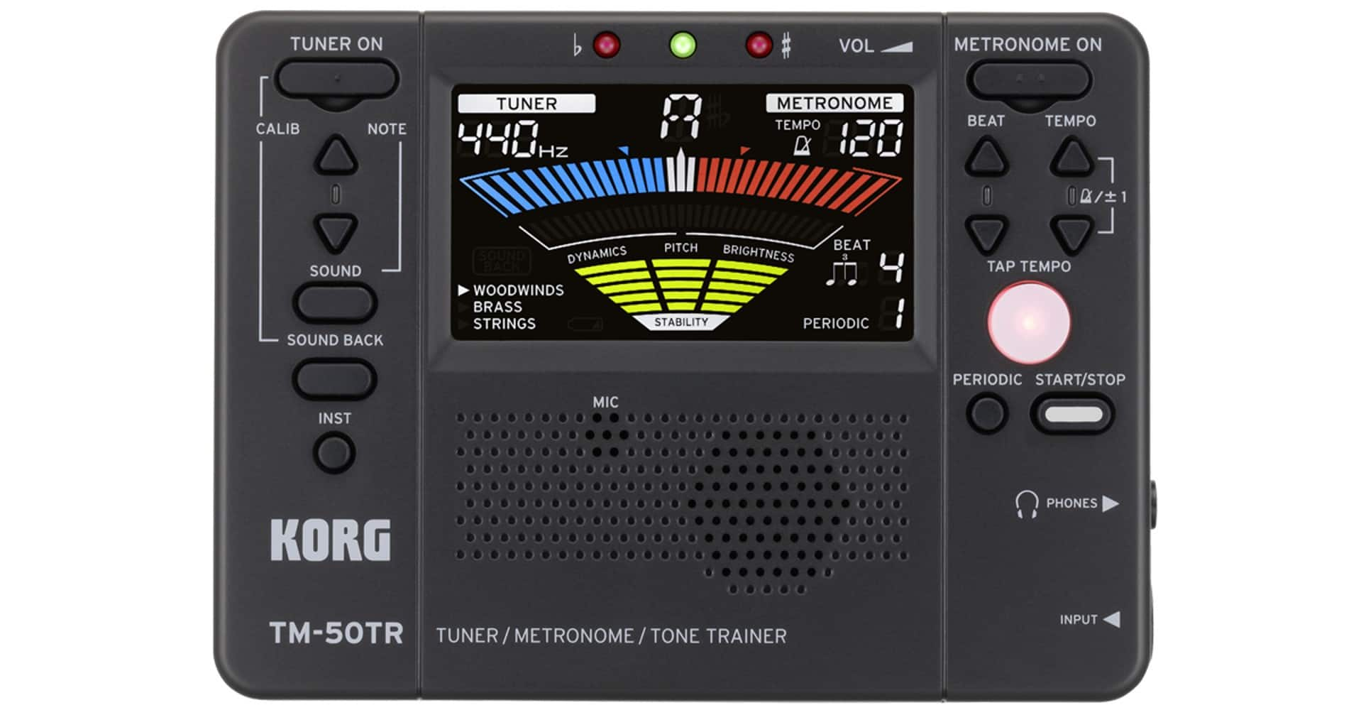 H And S Tuner >> Korg Tm50tr Tone Trainer Metronome Tuner 40 Free S H Slickdeals Net