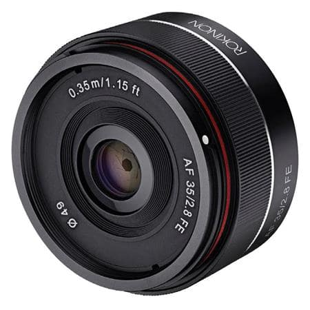 Rokinon Lenses: 35mm f/2.8 Sony E $269, 14mm f/2.8 Manual Focus from $259 + free s/h