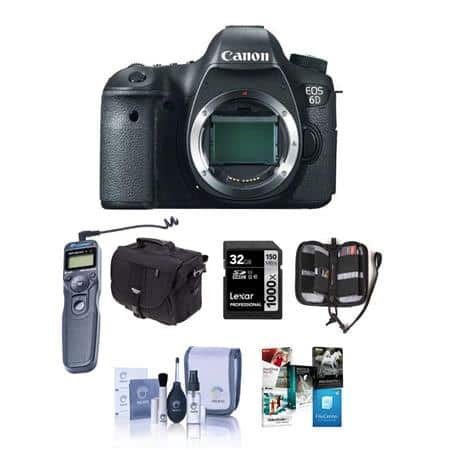 Canon 6D (body) $999 or w/ 24-105mm STM F3.5-5.6 Lens w/ extras $1399 + free s/h