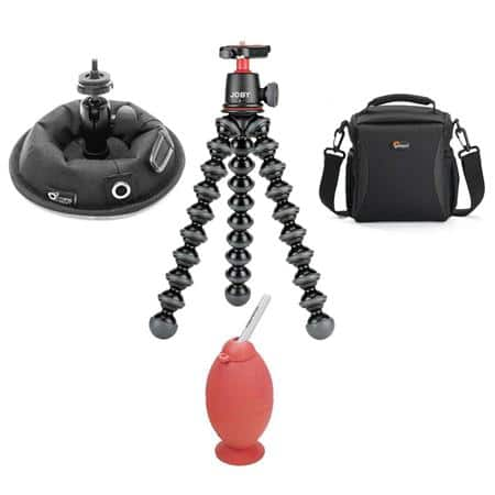 Joby GorillaPod 3K Kit with Lowepro Adventura 140 Bag & Octopus.Camera OctoPad Support Base with Ball Head $64 + free s/h