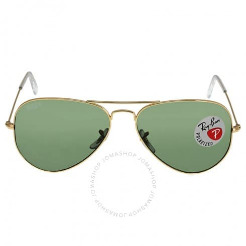 Ray-ban Aviator Green Polarized Lens 58mm Sunglasses $100 + free s/h