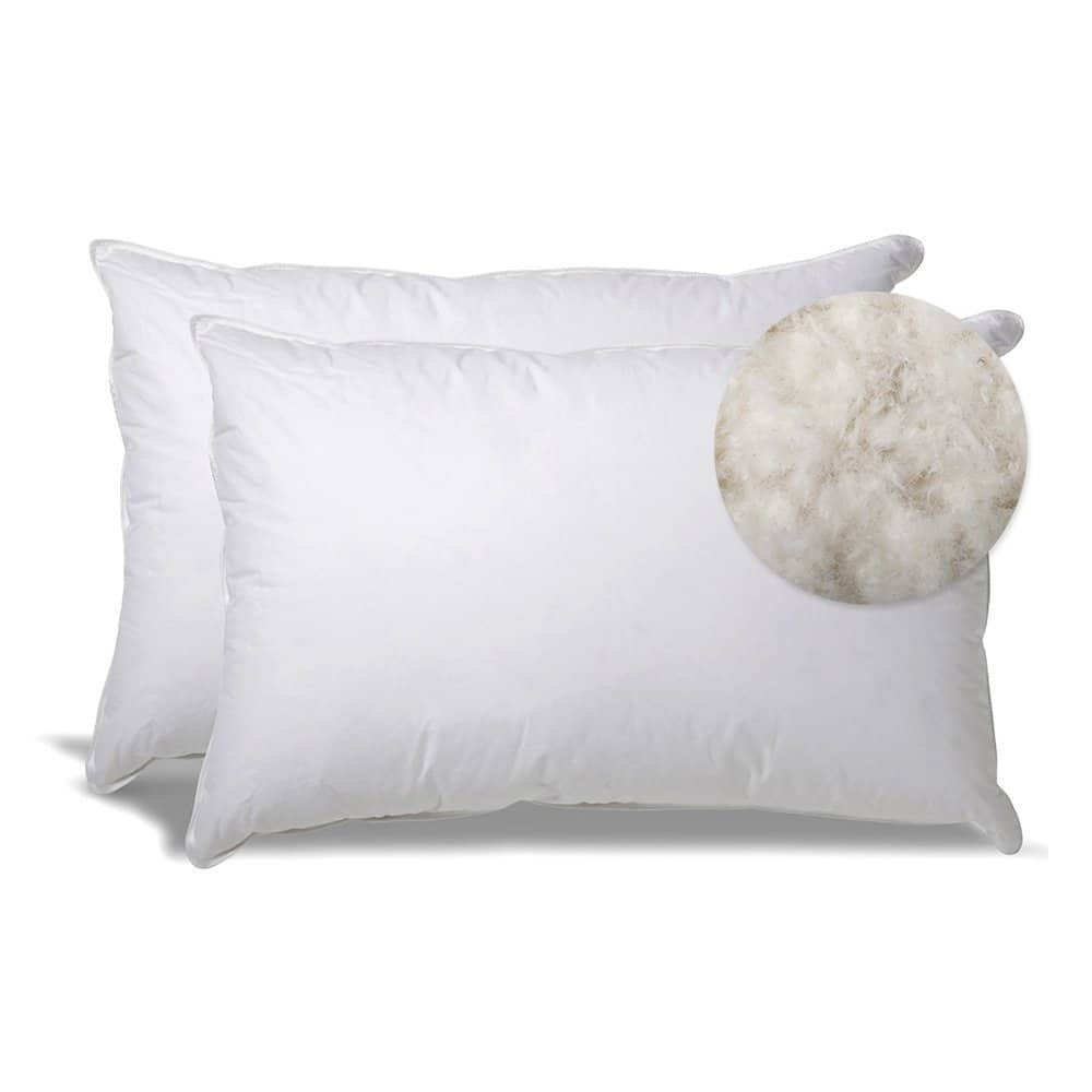 2-pack eLuxurySupply Extra Soft Down Filled Pillow for Stomach Sleepers $40 + free s/h