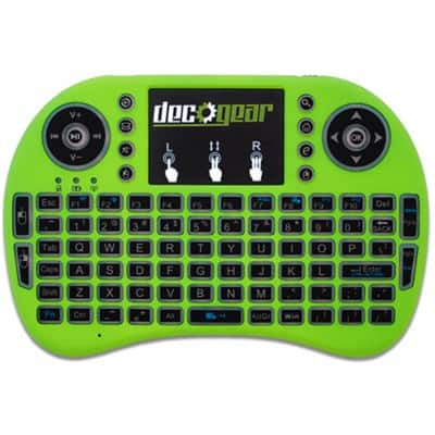 Deco Gear Mini Wireless Backlit Keyboard with Touchpad Mouse $9 + free s/h