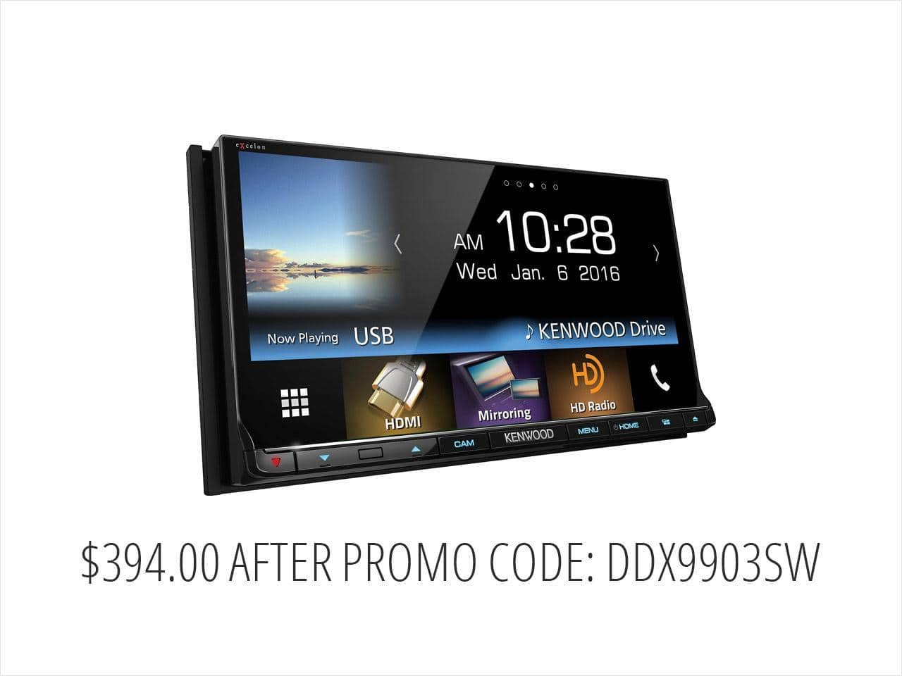 """Kenwood DDX9903S 6.95"""" eXcelon Double DIN w/Apple CarPlay & Android Auto $394 + free s/h"""
