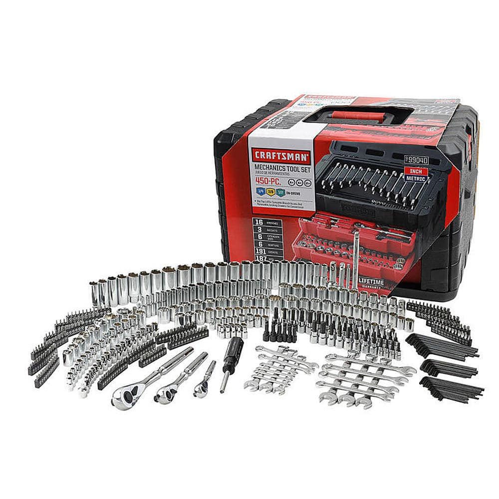 Craftsman 450-Piece Mechanic's Tool Set + $50 Sears Cash $189.99 + free s/h