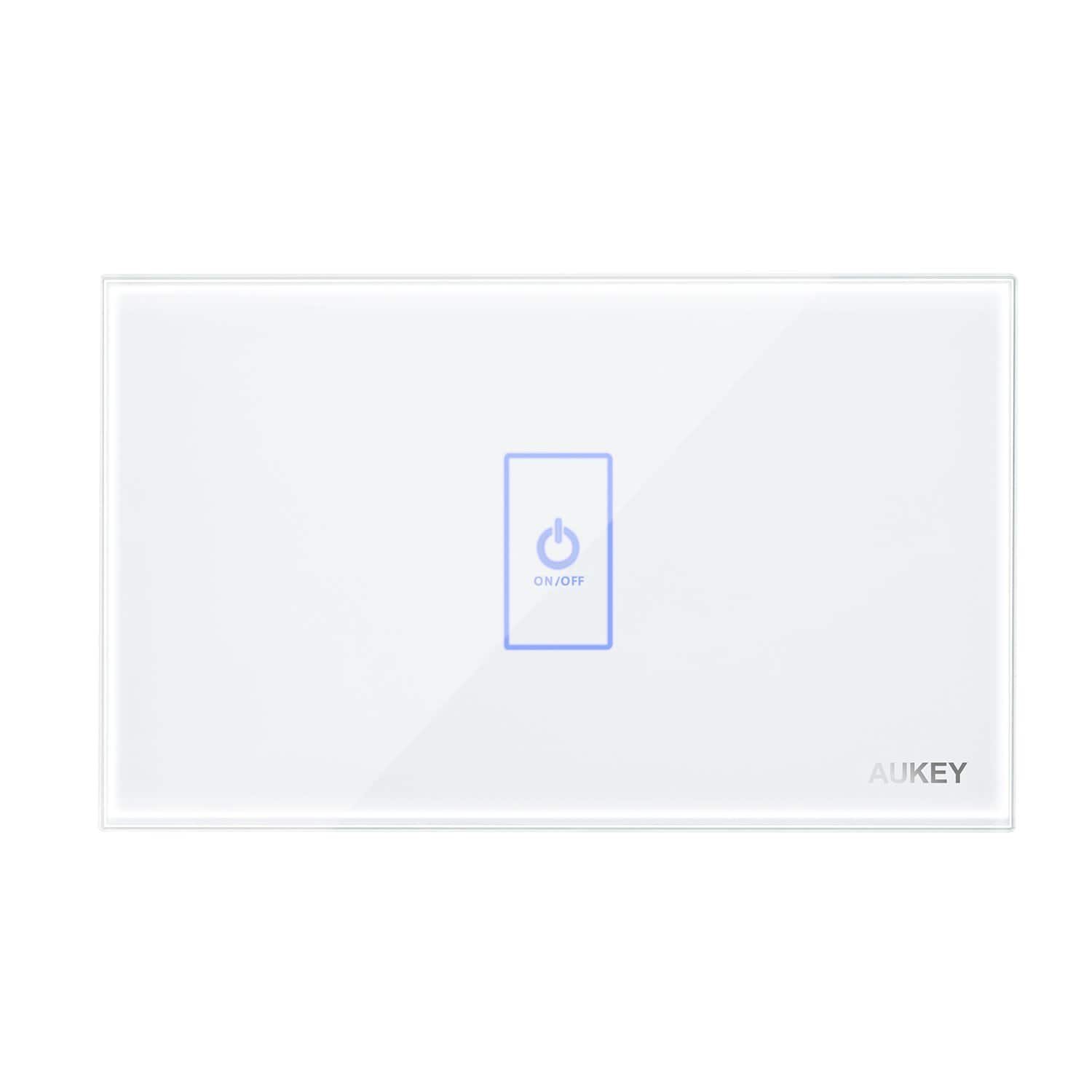 Aukey Light Switch Crystal Glass Panel And Led Indicator 3 19