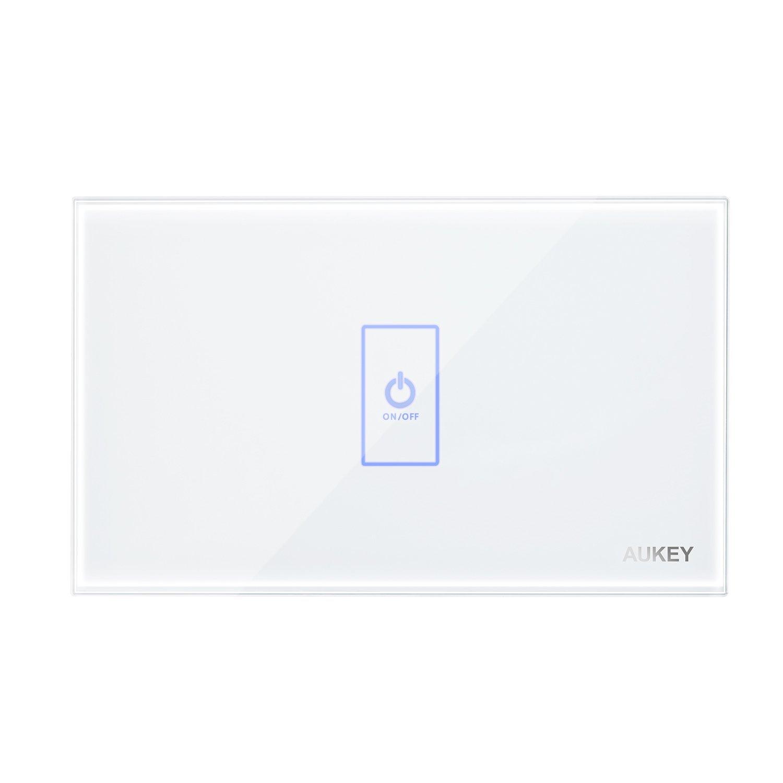 Aukey Light Switch Crystal Glass Panel And Led Indicator 319 3