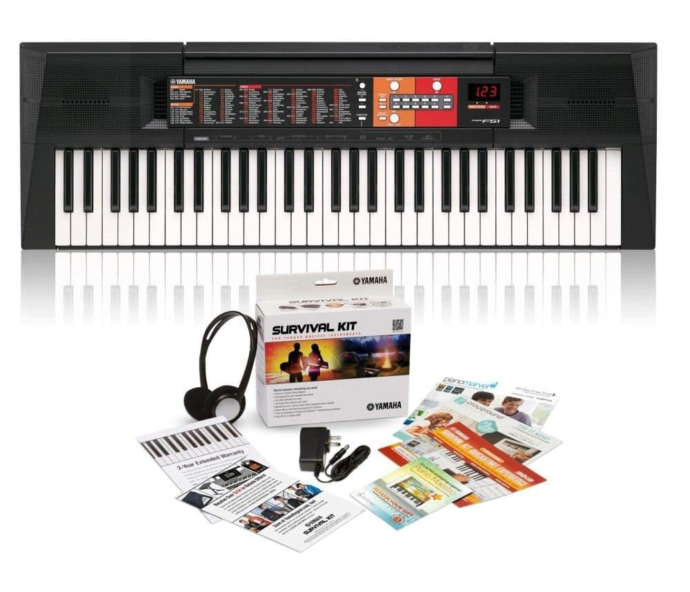 Yamaha PSR-F51 61-Key Portable Keyboard with Survival Kit (extended warranty & more) $90 + free s/h