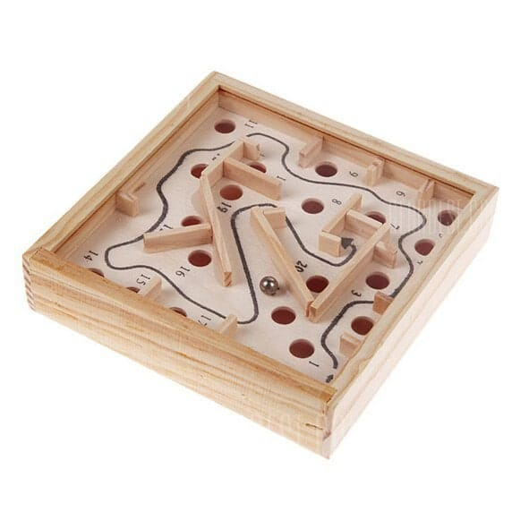 Wooden Labyrinth Puzzle $1.85