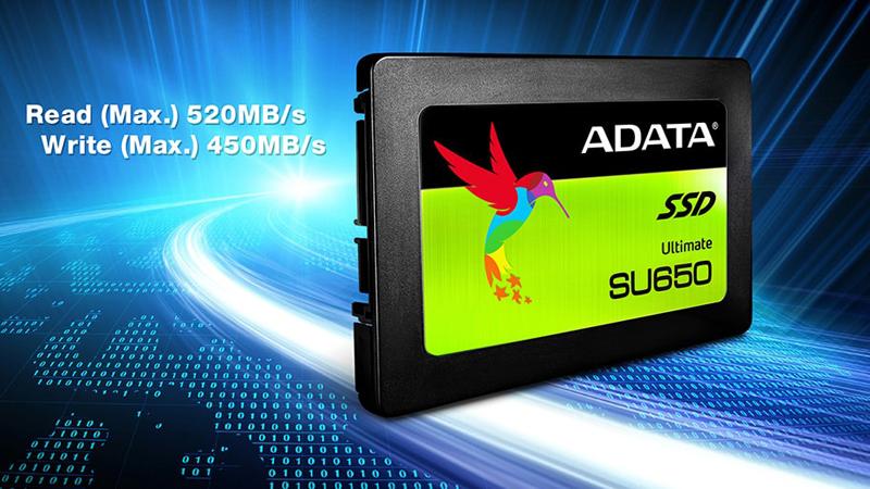 "120GB ADATA Ultimate SU650 3D 2.5"" Solid State Drive $30 + free s/h"