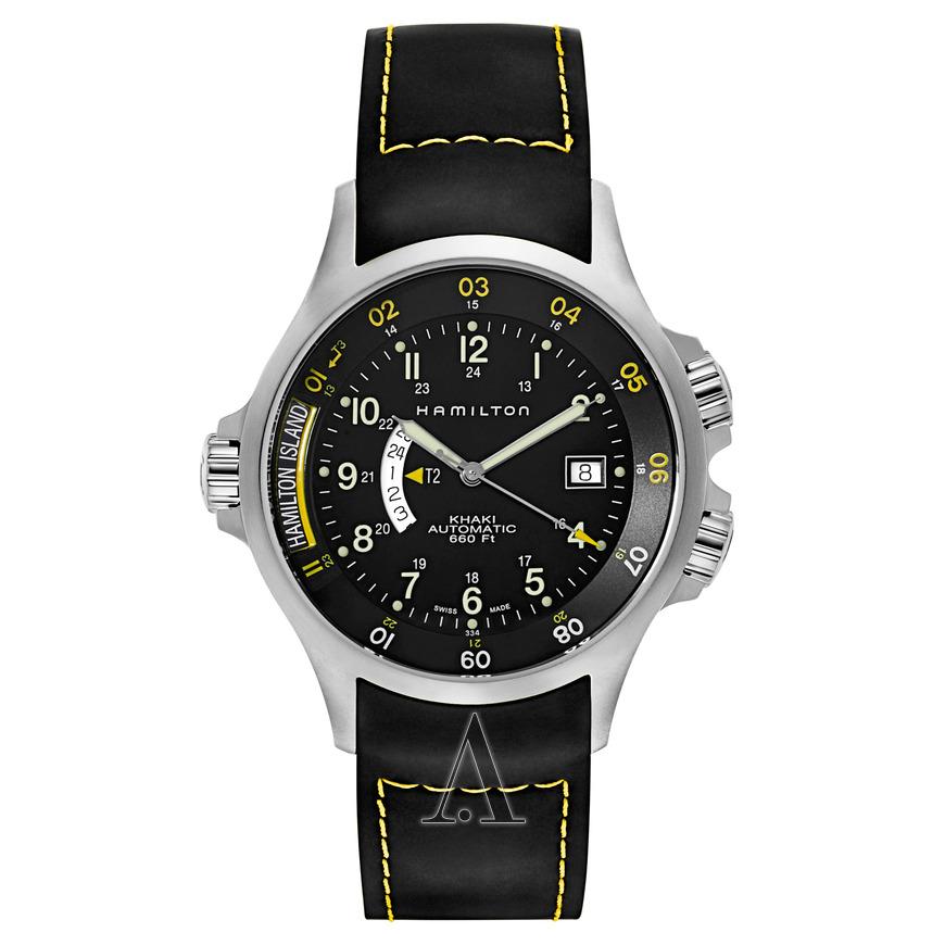 Hamilton Men's Khaki Navy Automatic GMT Watch $399 + free s/h