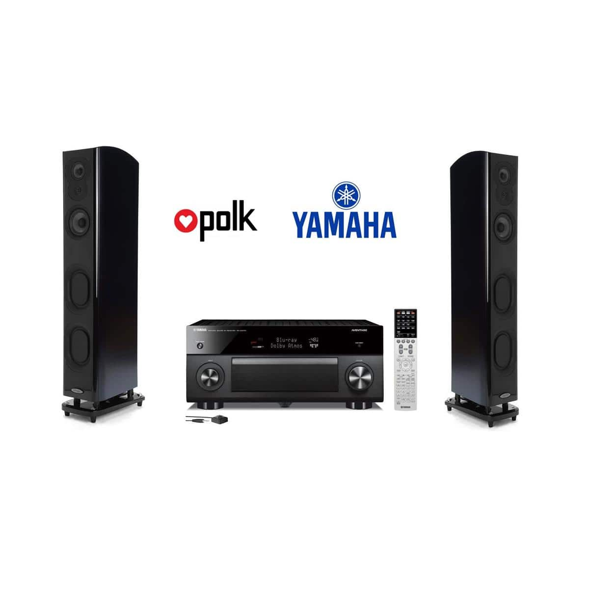polk lsim speakers m705 pair yamaha rx 2070 9 2 ch. Black Bedroom Furniture Sets. Home Design Ideas