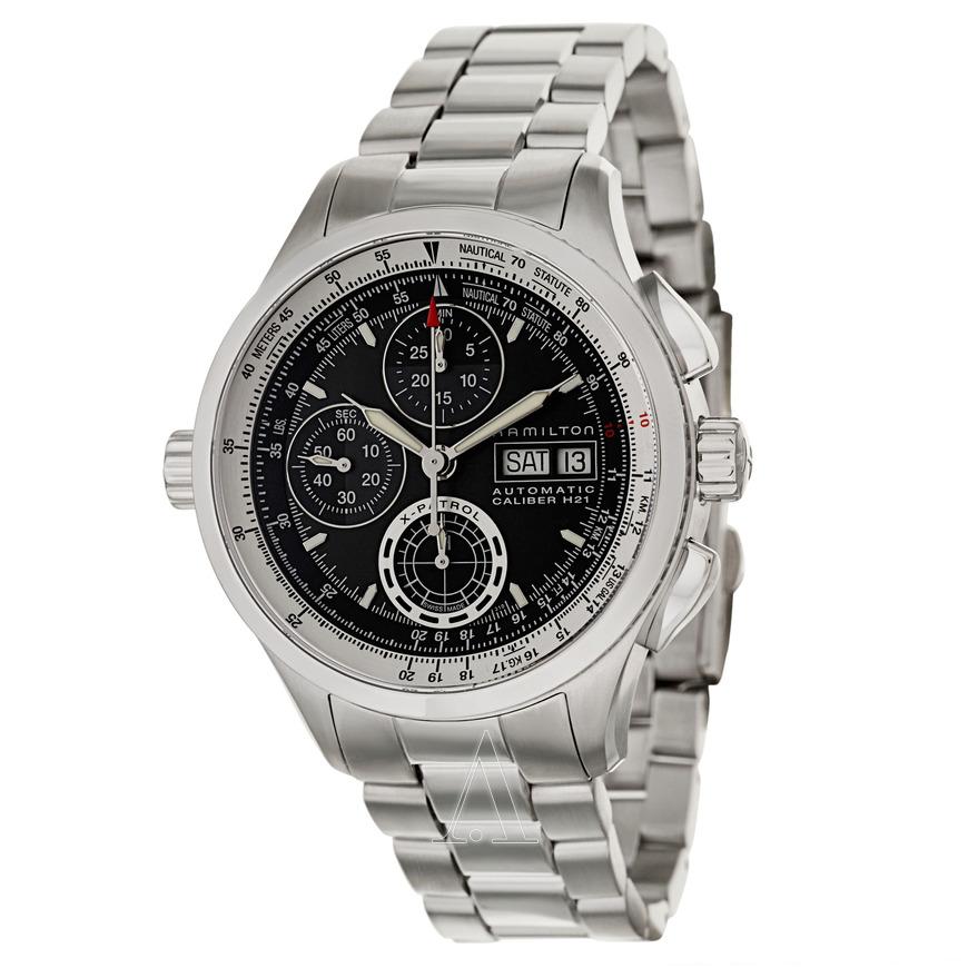 Hamilton Khaki Aviation X-Patrol Automatic Chronograph Watch on SS Bracelet $699 + free s/h