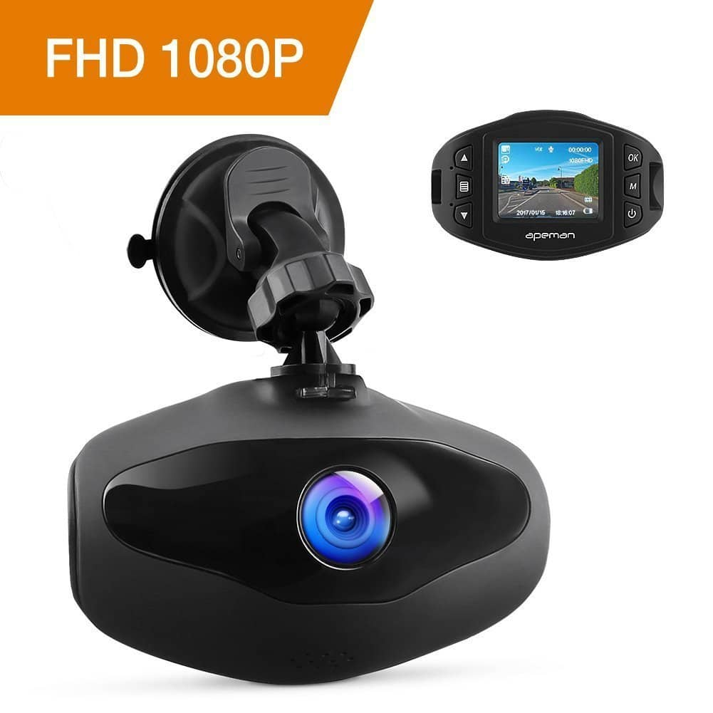 APEMAN 1080p Dash Cam w/ Sony Sensor, 650NM Lens, WDR, Loop Recording, Motion Detection, Park Monitor and G-Sensor $30 + free s/h