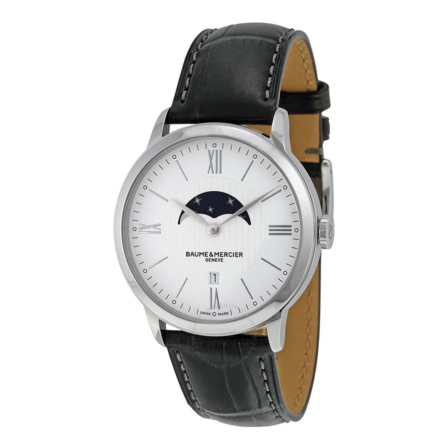 Baume & Mercier Classima White Dial Moonphase Men's Watch $675 + free s/h